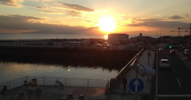 鵠沼海岸夕日