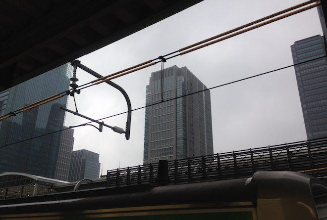 曇り空、丸の内ビルディング