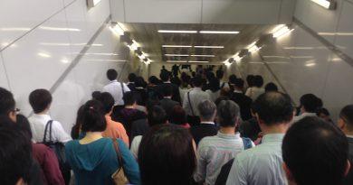 湘南台駅での混雑状況