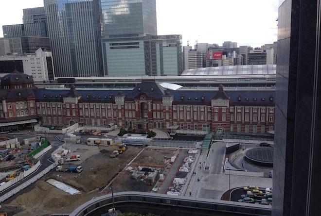 丸の内ビルディングから見た東京駅
