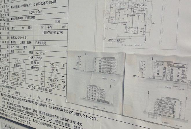 近隣の新築計画