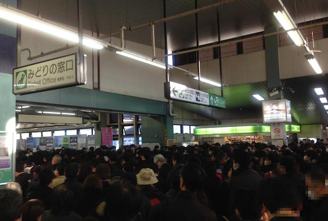 東戸塚駅での混雑状況